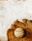 Baseball and Glove on Grunge background Royalty Free Stock Photography