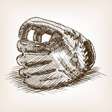 Baseball Glove Hand Drawn Sketch Style Vector Stock Images