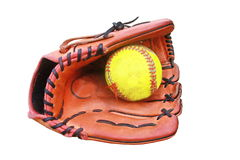 Baseball glove hold a ball Royalty Free Stock Photo