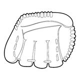 Baseball glove icon, outline style Royalty Free Stock Photography