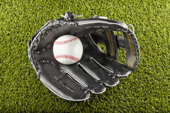 Baseball in glove Royalty Free Stock Photography