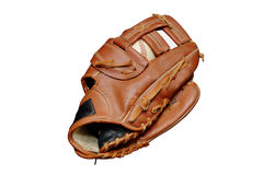 Baseball in Glove Isolated royalty free stock images