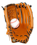 Baseball and Glove Isolated Stock Photography