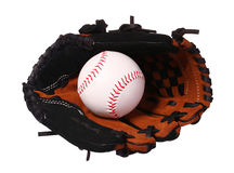Baseball in Glove isolated Stock Photos