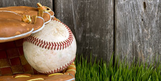 Baseball and Glove. Royalty Free Stock Image
