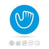Baseball glove sign icon. Sport symbol. Stock Photo