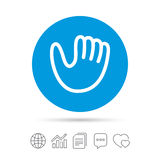 Baseball glove sign icon. Sport symbol. Royalty Free Stock Image