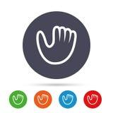Baseball glove sign icon. Sport symbol. Stock Photography