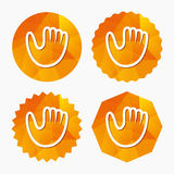 Baseball glove sign icon. Sport symbol. Stock Photography