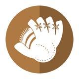 baseball glove sport shadow royalty free illustration