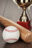 Baseball golden trophy cup Stock Photo