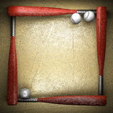 Baseball and golden wall Royalty Free Stock Image