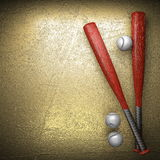 Baseball and golden wall background Royalty Free Stock Image