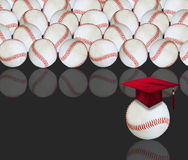 Baseball and graduation Royalty Free Stock Photography