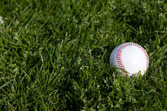 Baseball in grass Royalty Free Stock Image