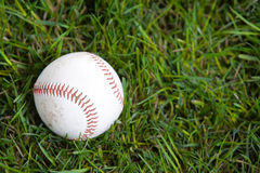 A baseball in the grass. In studio Royalty Free Stock Photos