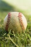 Baseball on grass (close-up) Royalty Free Stock Photos