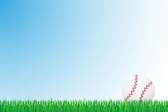 Baseball grass field vector illustration Stock Photo