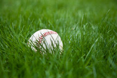 Baseball in Grass Royalty Free Stock Photos