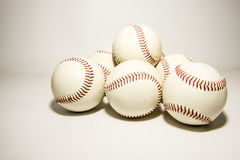 Baseball. In the gray background royalty free stock photos