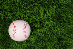 Baseball on Green Grass Royalty Free Stock Photo