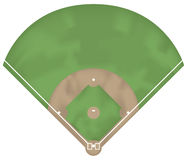 Baseball ground. Illustration of a baseball ground. Above view Stock Image