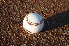 Baseball on ground Royalty Free Stock Photography