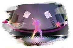 Baseball grunge background. Royalty Free Stock Images