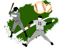 Baseball grunge players Royalty Free Stock Image