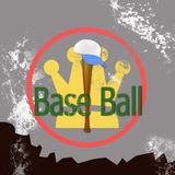 Baseball , grunge  texture old   retro  background Stock Image