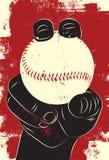 Baseball in hand Stock Photography