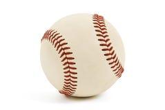 Baseball. A baseball hardball with red stitching on a white background Stock Photo