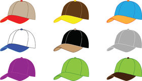Baseball hats Stock Photos