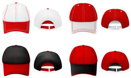 Baseball hats template. Stock Images