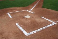 Baseball-Hauptplatte Stockbild