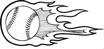 Baseball Heater. Vector illustration of a flaming baseball Royalty Free Stock Photos