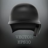 Baseball helmet front view vector.  Stock Images