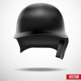 Baseball helmet front view vector.  Stock Photo