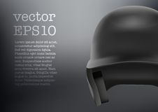 Baseball helmet front view vector.  Stock Photos