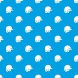 Baseball helmet pattern seamless blue Stock Photography