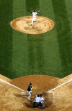 Baseball - here's the pitch! stock photography