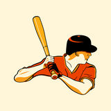 Baseball hero Royalty Free Stock Photography
