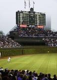 Baseball - historische Anzeigetafel des Wrigley-Feldes Stockfotos