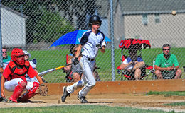 Baseball Hit Royalty Free Stock Photos