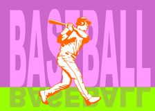 Baseball hit poster Stock Images