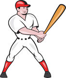Baseball Hitter Batting Isolated Cartoon Stock Images