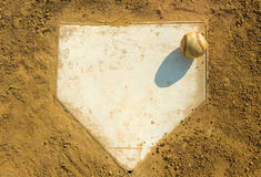 Baseball on Home Stock Photo