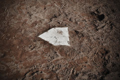 Baseball Home Plate Royalty Free Stock Images
