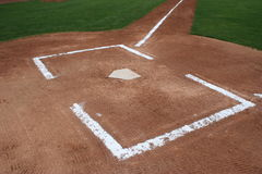 Baseball Home Plate. Home plate and the batters box Stock Image