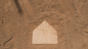 BASEBALL HOME PLATE Stock Photo
